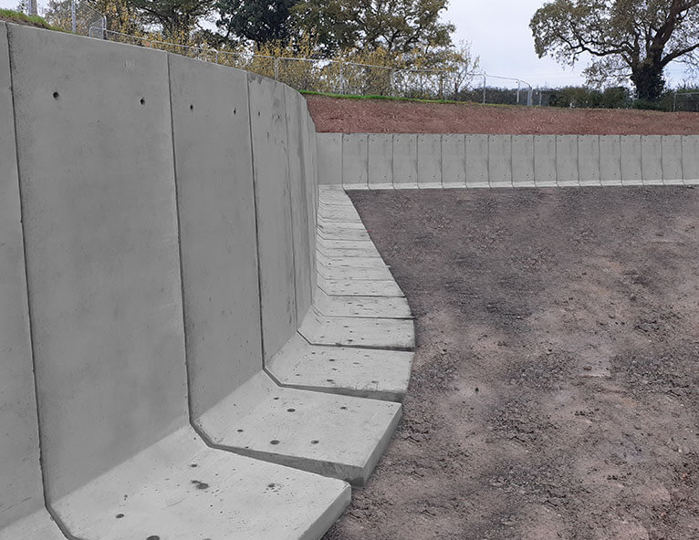 FP-McCanns-precast-concrete-L-Walls-installed-to-form-perimeter-boundary-and-earth-retention-solution-at-Thatchers-Cider-Factory