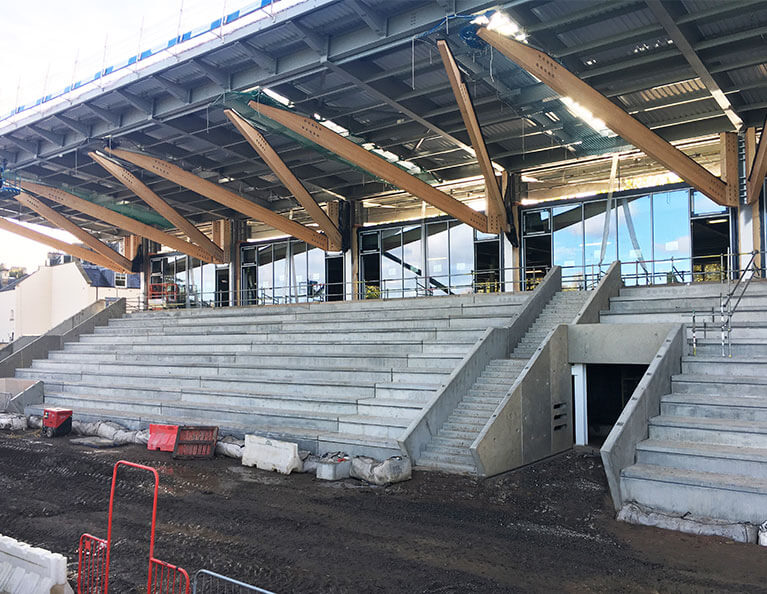 FP-McCanns-precast-terracing-units-and-stairs-installed-in-Raeburn-Place-Rugby-Stadium