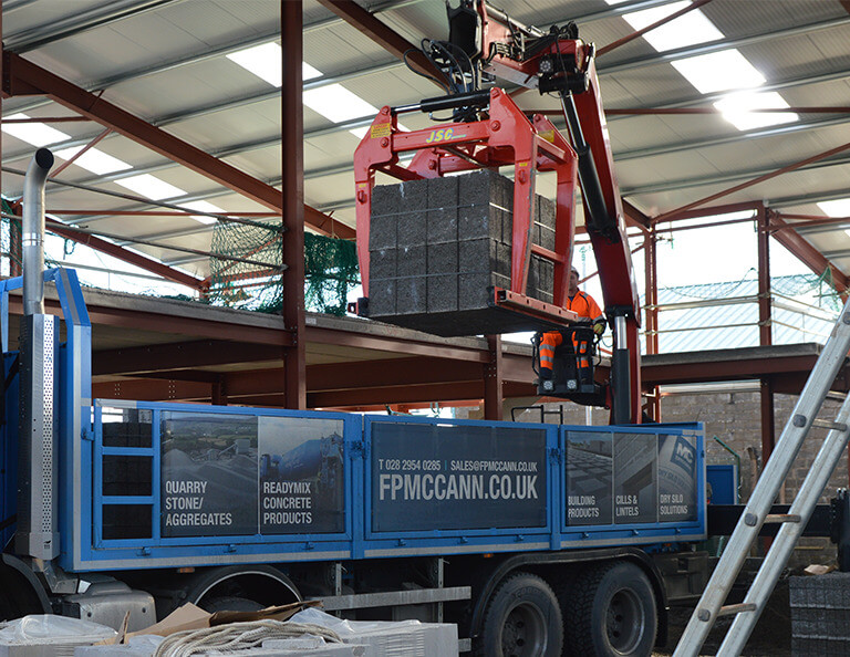 Building-products-loaded-on-to-FP-McCanns-Lorry