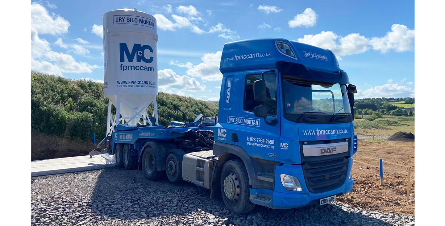 FP McCann Dry Silo Mortar Northern Ireland