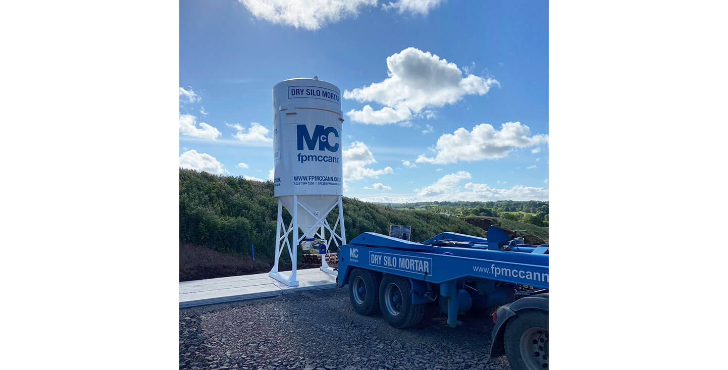FP McCann Mortar Silos Delivery Northern Ireland